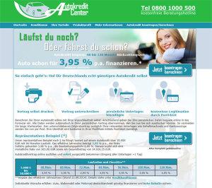 Autokredit.Center Webseite